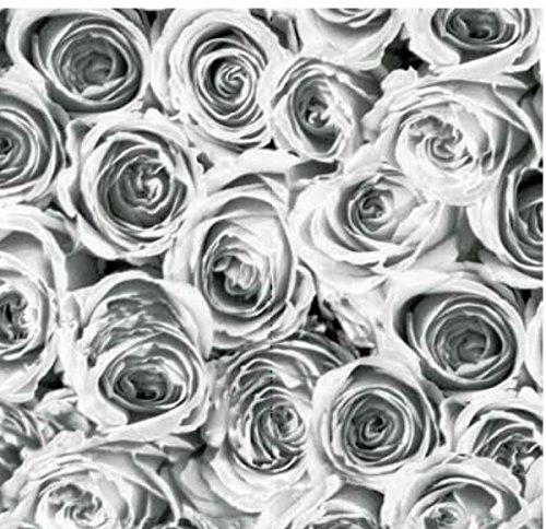 Klebefolie - Möbelfolie Rosen grau weiss Selbstklebefolie 45 cm x 200 cm moderne Selbstklebefolie Folie Dekorfolie mit Blumen