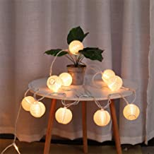 Lantern String Lights Plug in, UL Listed Outdoor Lantern Lights String 9.83FT Pack of 10 Nylon Lantern String Lights for Patio, White Lights String for Bedroom