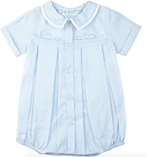 Feltman Brothers Baby Boys Blue Train Bubble Layette Outfit