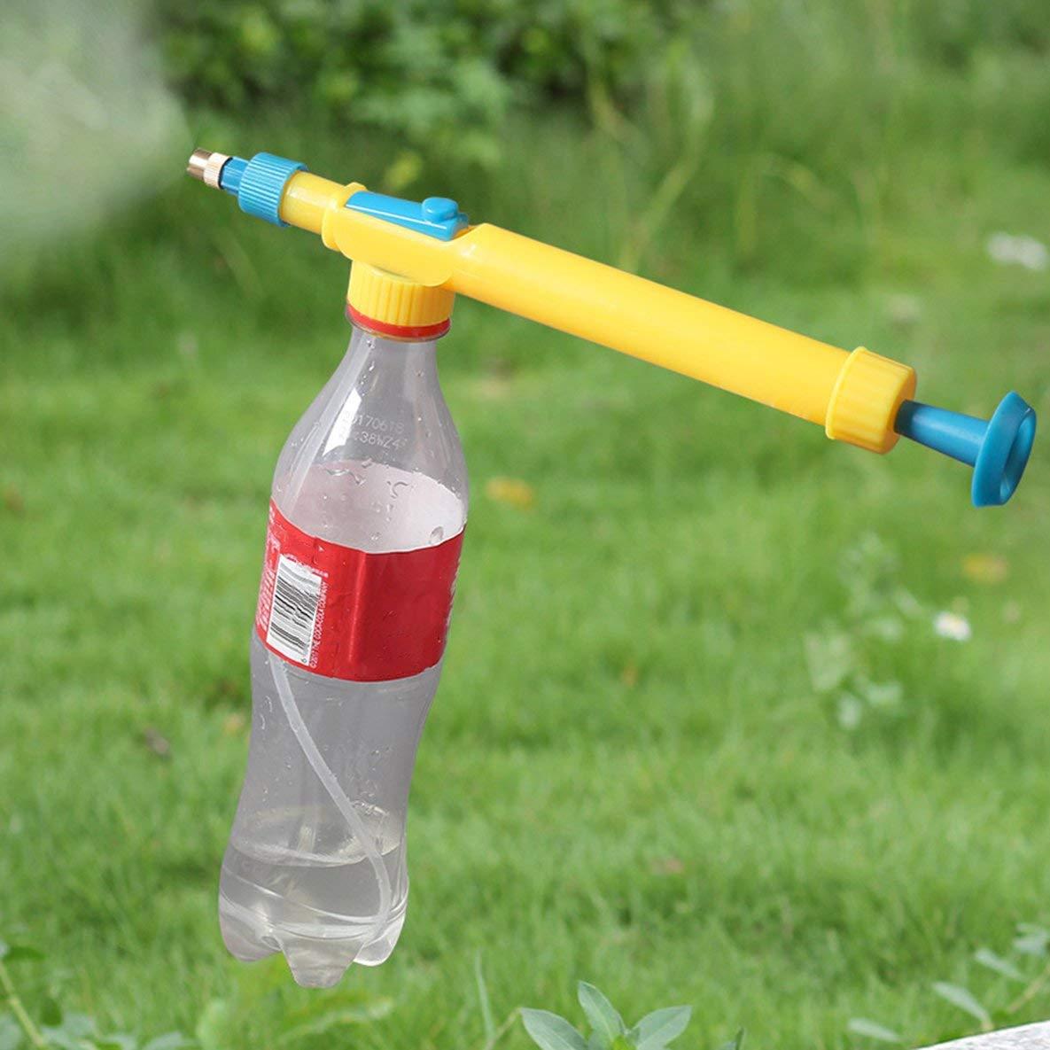 Heaviesk Botella de Coca Cola Pistola pulverizadora Pulverizador Manual Boquilla de Aire reciprocante Hierro Jardinería Dispositivo de riego Presión de Aire Pulverizador: Amazon.es: Hogar
