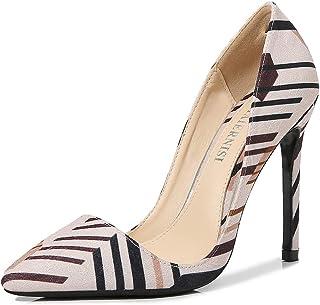 CYwinterB Talons Hauts Escarpins à Plateau en Satin élégants Chaussures Sexy à Bout Pointu Stiletto pour Femmes Escarpins ...
