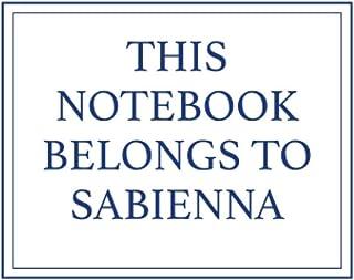 This Notebook Belongs to Sabienna
