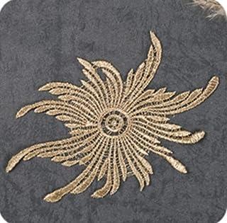 DACCU 5 Stück Goldstickerei Venice Flower Lace Applique Aufnähen für Stoff, JA25
