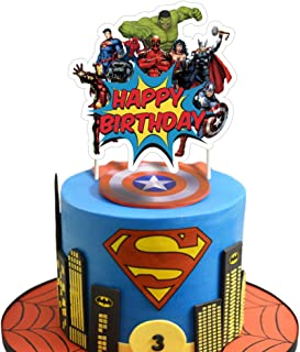 Superhero Cake Topper Birthday Cake Cupcake Decorations Party Supplies Toppers for Fans of Super Hero