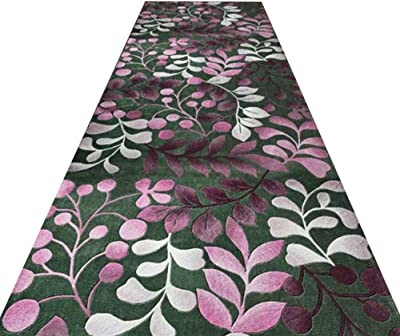 HAIPENG Non Slip Area Rugs Runner Rug for Hallway Low Pile Machine Washable Corridor Aisle Passage Formal, 2 Patterns (Color : A, Size : 0.6x1m)