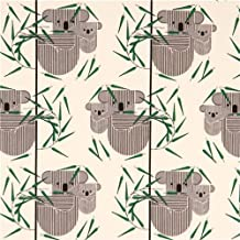 cream 'Koala Koala' koala bear birch organic fabric USA (per 0.5 yard multiples)