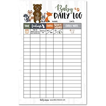 Amazon Com Newborn Baby Log Tracker Journal Book Infant Daily Schedule Feeding Food Sleep Naps Activity Diaper Change Monitor Notes For Babies Mommy Nursing Or Breastfeeding Record Tracking Chart 50 Sheet Pad Office
