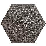JU FU Papel pintado Engomadas de la pared, material del PE impermeable espesado anticolisión hexagonal imitación azulejo de la pared etiquetas autoadhesivas pared de espuma, 10 Piezas, 7 colores @@