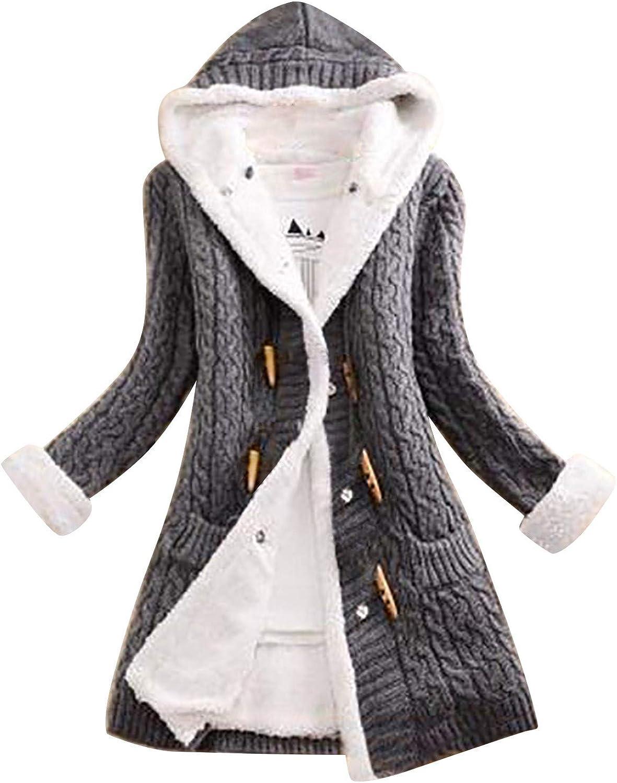 hnmkiu Women Horn Button Cardigan Sleeve depot Cashmere Outlet SALE Long T Sweater