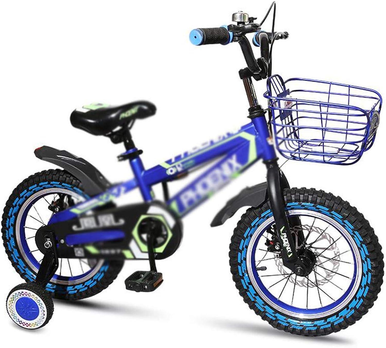 GAO YU SHOP Kinder Fahrrad Kinder Fahrrad Jungen und Mdchen Fahrrad Doppelscheibenbremsen Konfiguration Fahrrad 2-4-6 Jahre alte Mnner und Frauen (Farbe   rot, Größe   16INCH)
