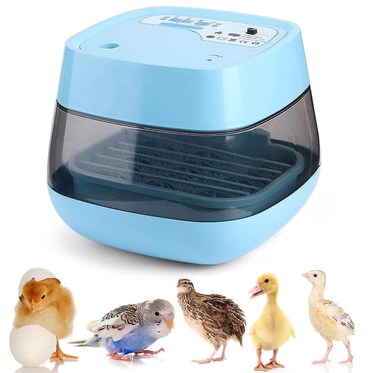 嫌がる母音満員卵インキュベーター、家庭用フルプラスチックインテリジェントスマート卵インキュベーター、卵孵化場用インキュベーター(blue)