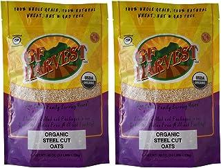GF Harvest Gluten Free Certified Organic Whole Grain Steel Cut Oats, 40 Ounce Bag, 2 Count