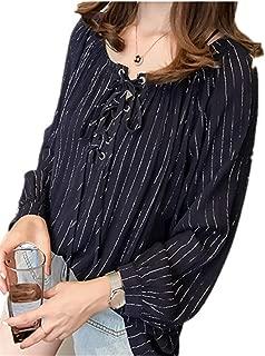 Women's Chiffon Blouse Cuffed Sleeve Shirt