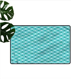 HOMEDD Bath mat,Damask Soft Little Blossoms,Machine-Washable/Non-Slip,31