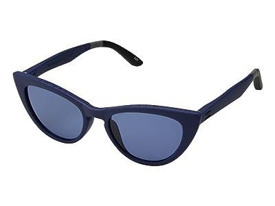 TOMS Ivy (Matte Deep Cobalt/Solid Light Blue) Fashion Sunglasses