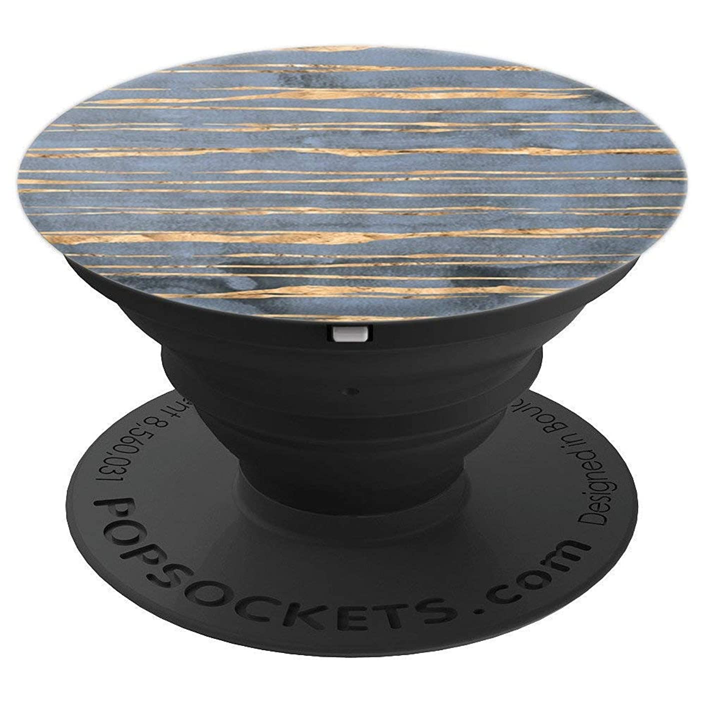 Unique Stripes on Trendy Blue PACJ0346 - PopSockets Grip and Stand for Phones and Tablets