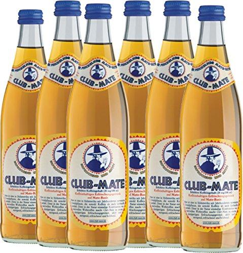 6 Flaschen a 0,5 L Club Mate Tee Clubmate inc. 0.90€ MEHRWEG Pfand