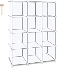 TomCare omCare Cube Storage 12-Cube Book Shelf Storage Shelves Closet Organizer Shelf Cubes Organizer Plastic Bookshelf Bo...