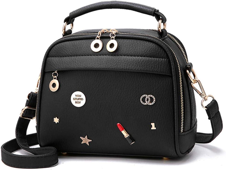 Z.H-H Wild Fashion, Small Fresh Lady Casual, Simple and Large-Capacity Personality Handbag Mini Shoulder Messenger Bag