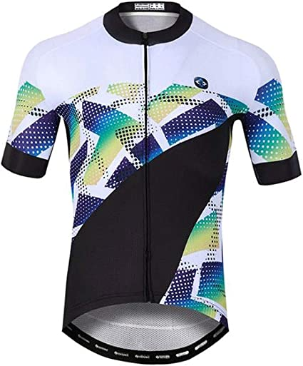 Mens Cycling Sets Short Sleeve Jersey Shorts Padded Suit Breathable Elastic Tops