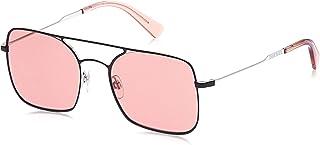 نظارات شمسية للجنسين من ديزل DL030205S54 - اسود/ خمري معدني