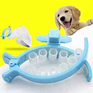 PETS EMPIRE Soft Silicone Dog Tail Poo Pack Waste Bag with Portable Holder Clip (Medium), 20 Pieces