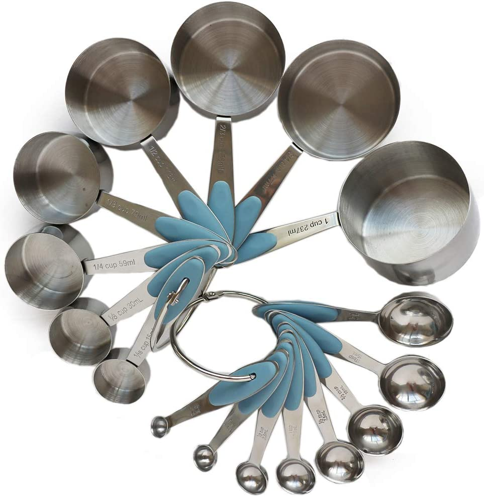 Safety and trust Online limited product Smithcraft 18 8 Stainless Steel Measuring Cups Comple Spoons