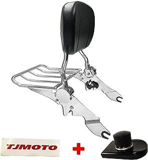 TJMOTO NEW Adjustable Detachable Chrome Passenger Backrest Sissy Bar Luggage Rack For 2009-2019 Harley Davidson Touring