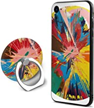 Neweast Damien Hirst Beautiful Case for iPhone 6/6s Plus Creative Fashion Phone Shell Cover with Ring Bracket Shockproof Anti-Scratch Case Ring Bracket with Mobile Phone Compatible