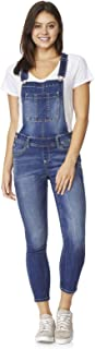 Women's Juniors Plus-Size Stretch Skinny Overalls