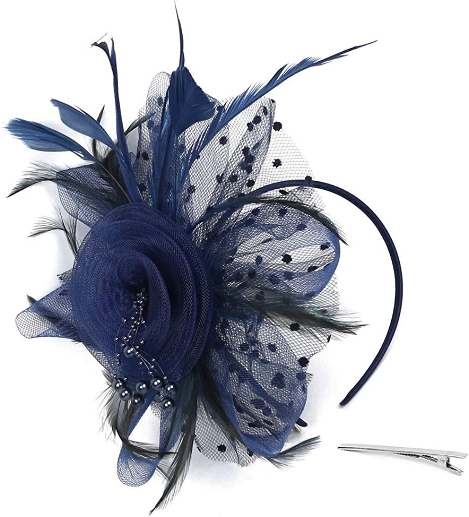 Retro Headband Court Private Evening Hat Nails Hairpin Headwear Party Bridal Headpiece KLGDA