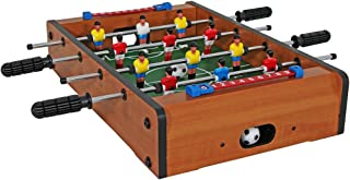 Sunnydaze 20-Inch Tabletop Foosball Table - Mini Sports Arcade - Lightweight Portable Compact Design - Hollow Telescoping Road - Table Soccer for Game Room, Bar, or Family Game Night