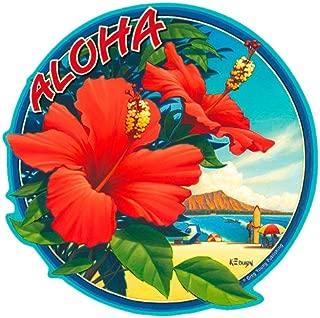 Hibiscus - Hawaiian Art Decal - Car Window Bumper Sticker