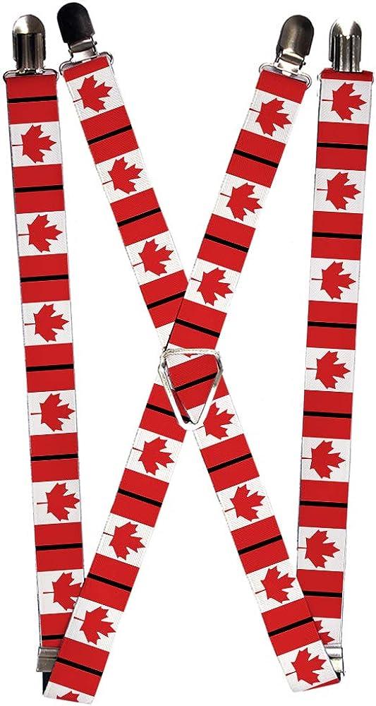 Buckle-Down Men's Suspender-Canada, Multicolor, One Size
