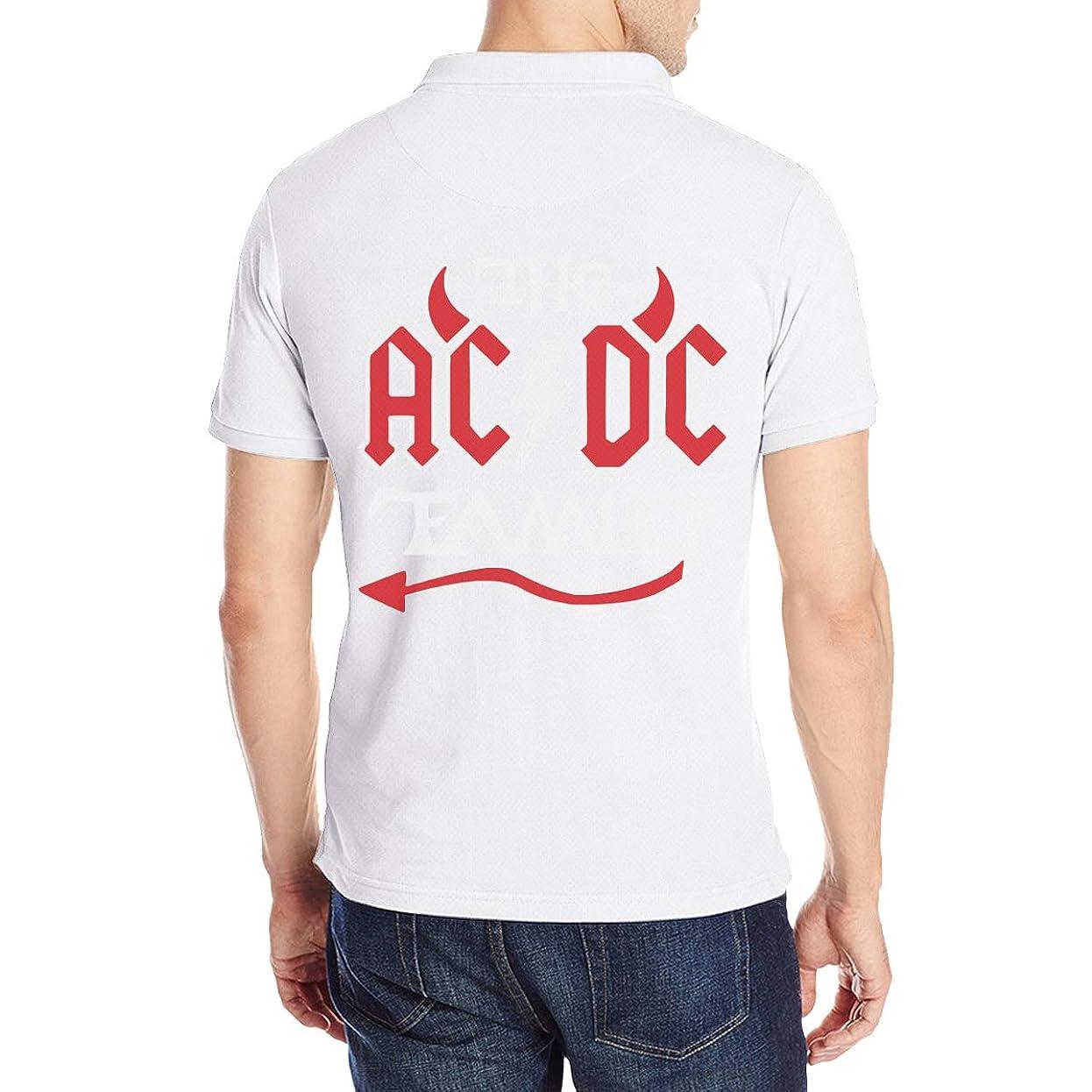 平等仮定するマウンド半袖 ポロシャツ メンズ 大きいサイズ ロゴ プリント クラシック ACDC バンド Poloシャツ 軽量 吸汗通気 Tシャツ バックプリント 抗菌防臭 カジュアル シャツ シンプル 通気性 おしゃれ S-2XL