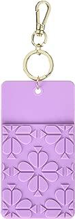 Kate Spade New York Women'a ID Badge Clip Key Chain, Spade Flower (purple)