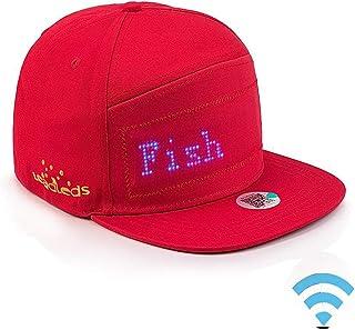 WooyMo LED Leuchten Hut, LED Fashion Cap Cool Display Nachricht Hut Mütze Mobile APP Steuerung animierte Kappe für beleuchtete Glow Club, Party, Sport, Baseball, Golf, Männer Frauen