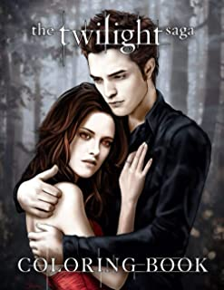 The Twilight Saga Coloring Book: A New Way For You To Play Games Without Holding Your Phone, Enjoy Life Through Self-Color...