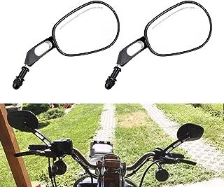 specchietti retrovisori laterali di 8 // 10/mm per motocicletta; Con viti filettate Tuincyn 1/coppia con lenti blu irregolari colore: nero