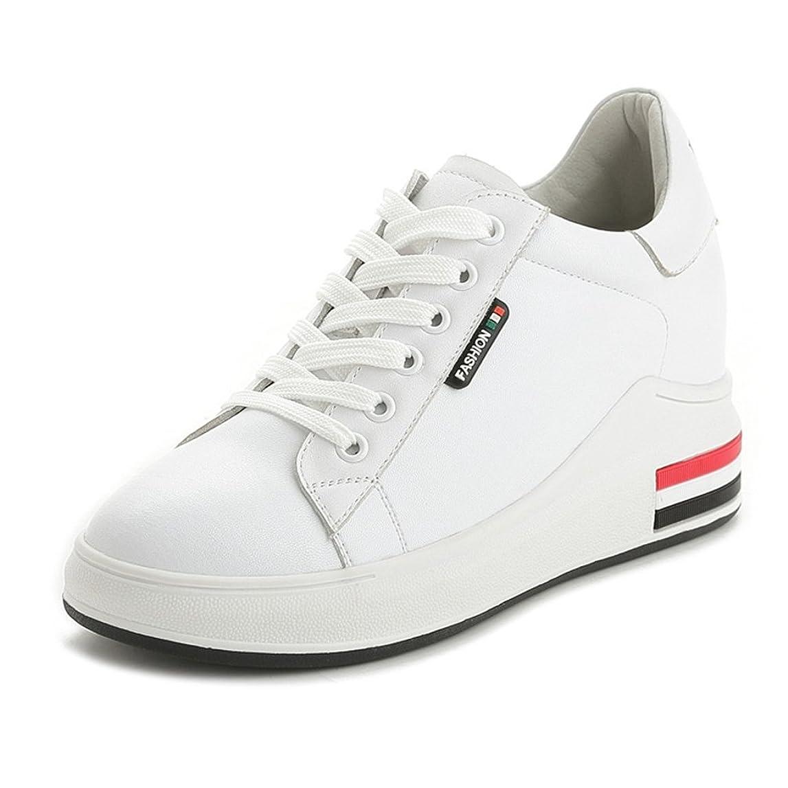 苦害虫通信する[サニーサニー] インヒールスニーカー レディース 厚底 レースアップ シークレットシューズ 歩きやすい カジュアル 快適 プラットフォーム 通学 フラット ハイカット 通気性 通勤 柔らかい 身長アップ 美脚 運動靴 革靴