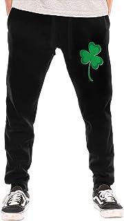 Distressed Irish St Paddys Day Shamrock Men`s Long Pants Casual Pants