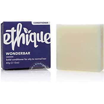 Ethique Eco-Friendly Solid Conditioner Bar for Oily-Normal Hair, Wonderbar - Sustainable Natural Conditioner, pH Balanced, 100% Soap Free, Vegan, Plant Based, 100% Compostable and Zero Waste, 2.12oz