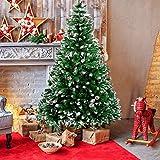 amzdeal Künstlicher Weihnachtsbaum - 180cm Tannenbaum mit Schnee 800...