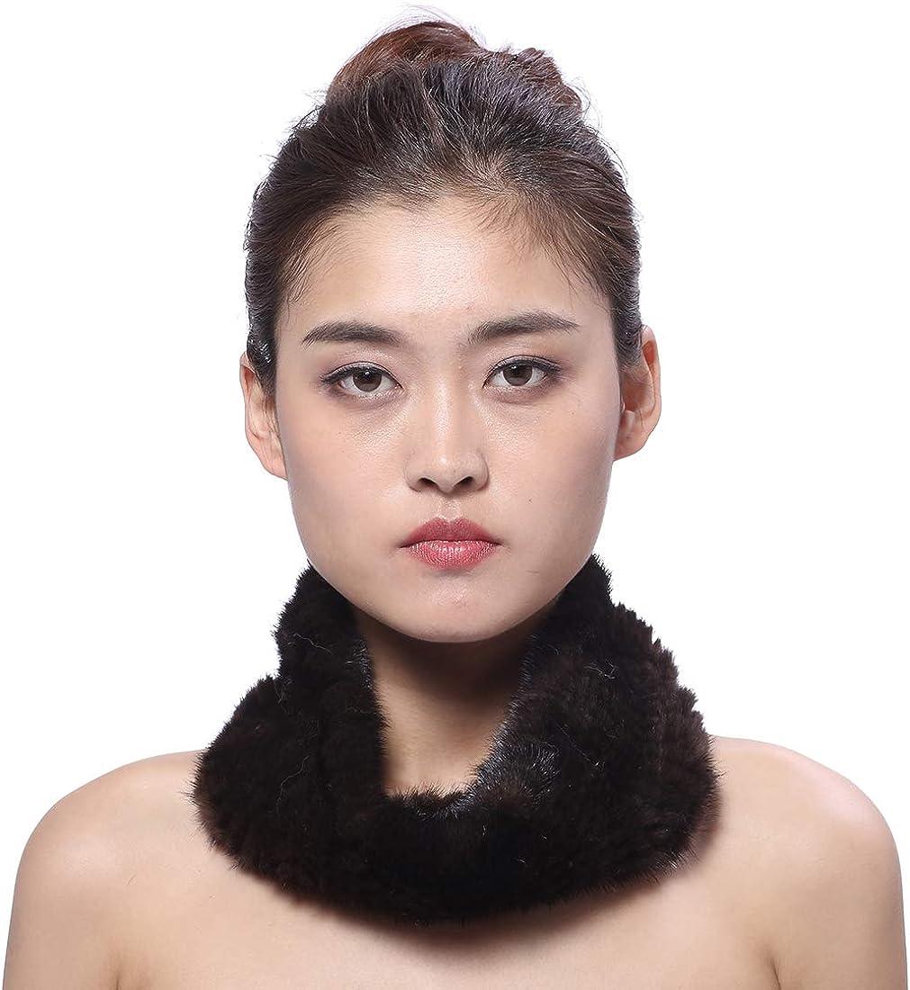 BeFur Real Free Shipping Cheap Bargain Gift Knit Mink Fur Collar Washington Mall Warm Winter Infinity Womens Sca