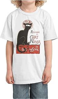 Kid's A French Ninja Cat! Funny Design Tshirt