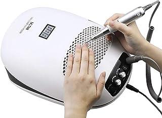 Nail Dryer Lámpara de uñas 3 en 1, colector de Polvo de uñas, Taladro de uñas, secador de curado con Gel UV, Potente Limpiador de succión al vacío, máquina de Taladro de uñas eléctrica