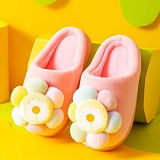 ECSWP MSGWNHLPSB Pantoufles d'hiver Enfants Couleur Belle Fleur Pantoufles intérieures for 3-6 Ans Garçons Garçons Filles ...