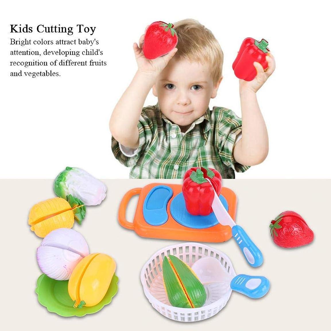 前兆影のあるペチコートSimlug キッズフードカットおもちゃセット、12個/セット面白いキッズフードカットおもちゃロールプレイキッチンフルーツ野菜おもちゃ