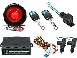 KKmoon Cierre Centralizado sin Llave para 2 Puertas + Control Remoto de Alarma + Sensor de Choque Kit de Coche