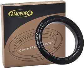 55mm Filter Thread Macro Reverse Mount Adapter Ring, for Canon EOS 1D, 1DS, Mark II, III, IV, 1DC, 1DX, D30, D60, 10D, 20D, 20DA, 30D, 40D, 50D, 60D, 60DA, 5D, Mark II, Mark III, 7D, Rebel XT, XTi, XS